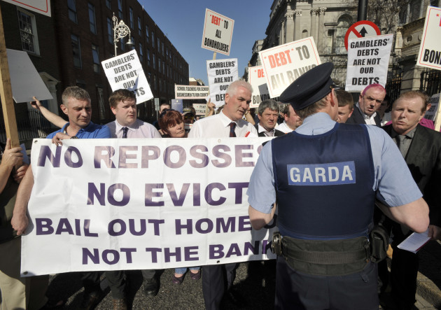 27/3/2012 Anglo Irish Payments Protests