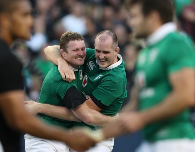 Donnacha Ryan and Devin Toner celebrate winning