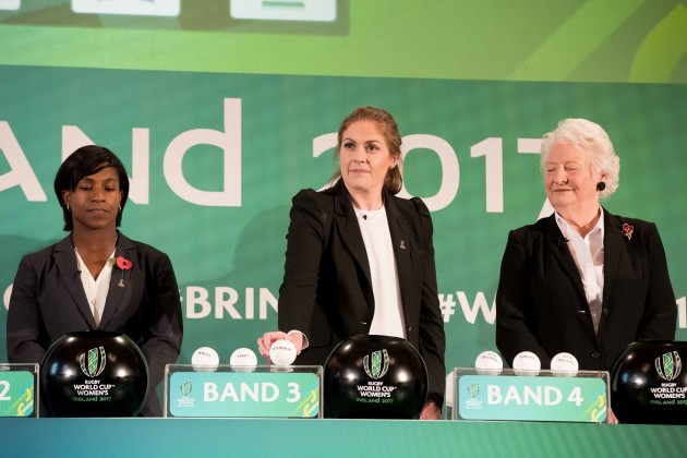 Maggie Alphonsi, Fiona Coghlan and Dame Mary Peters