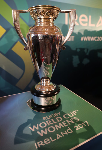 The Women's Rugby World Cup trophy