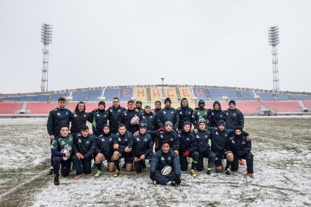 The Connacht team photo at the final training session