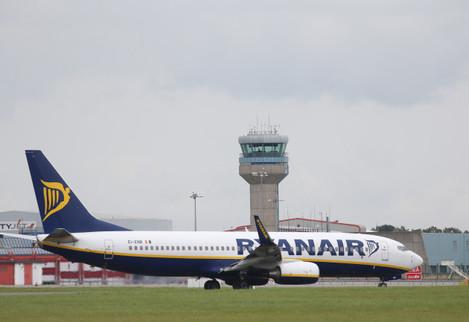 2/9/2014. Aeroplanes at Dublin Airport