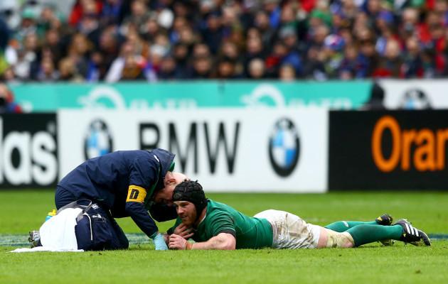 Sean O'Brien injured with Dr. Jim McShane