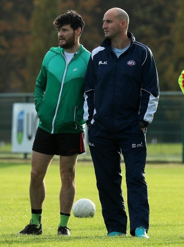 Tadhg Kennelly and Marty Clarke