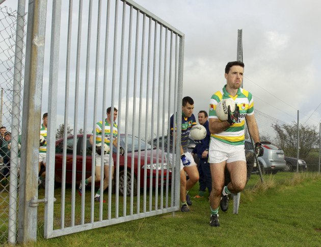 James Fitzpatrick makes his way to the pitch