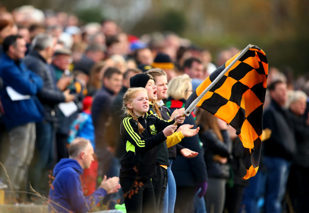 Dr Crokes supporters cheer on their team