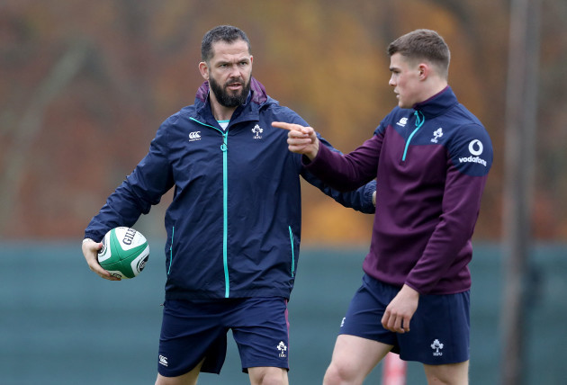 Andy Farrell with Garry Ringrose