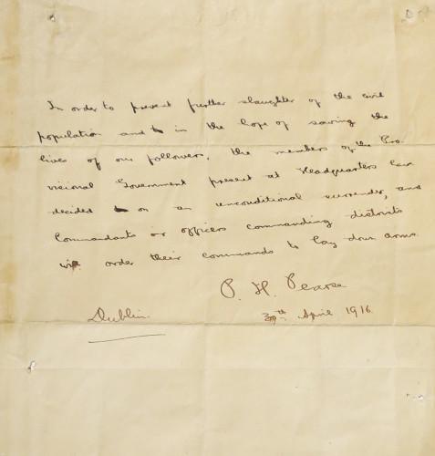 27/9/2016. Padraig Pearse Letters