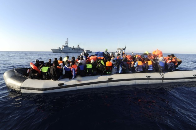 28/6/2015 The LE EITHNE successfully located and rescued a total of 593 migrants: from six separate vessels, 50 Nautical Miles north west of Tripoli, the Libyan capital this morning.​ Rescue operations commenced at 4 am Irish time when 101 migrants