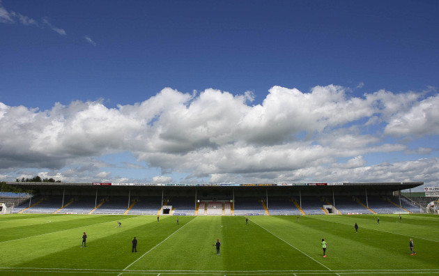 A general view of Semple Stadium as the Kilkenny players warm up