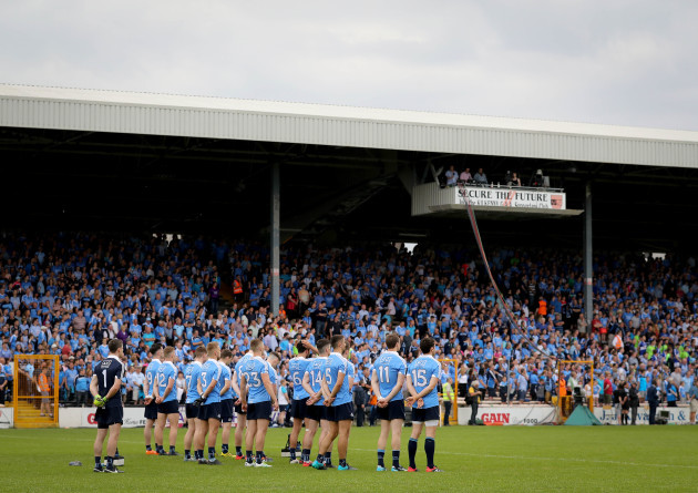 Dublin stand for the national anthem