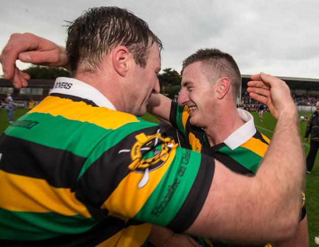Graham Callanan celebrates with Patrick Cronin