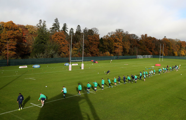 A view of training