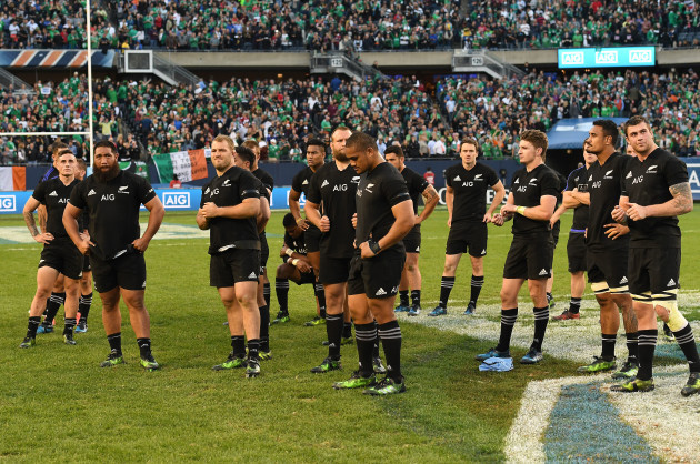 New Zealand team dejected after losing