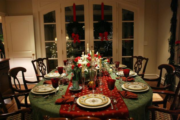 Christmas Dinner Setting