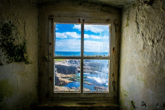 An_view_from_inside_Hook_Lighthouse_at_Hook_Head,_Co_Wexford,_19th_September_2016
