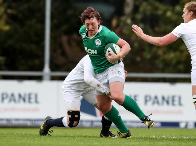 Ireland vs England Ireland's Lindsay Peat