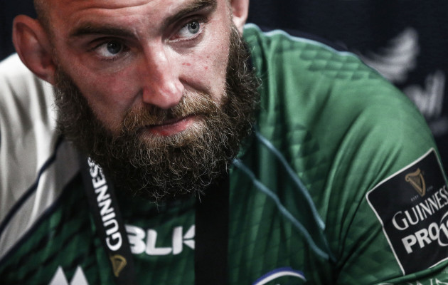 John Muldoon in the dressing room after the game