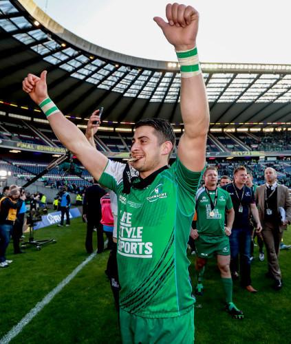 Tiernan O'Halloran celebrates