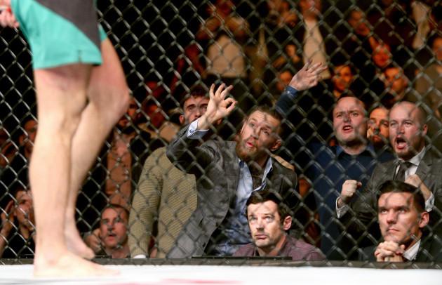 Conor McGregor in attendance