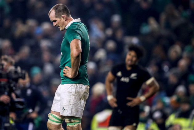 Devin Toner dejected at the end of the game 19/11//2016
