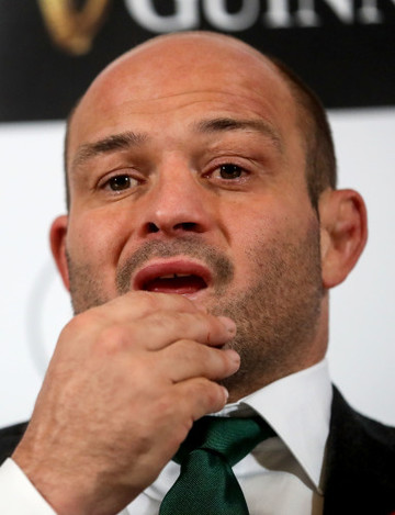 Rory Best at the press conference  19/11//2016