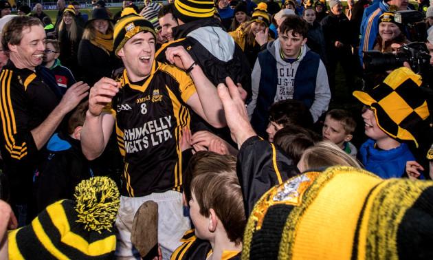 Tony Kelly celebrates