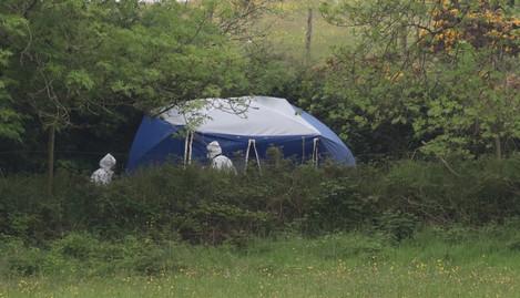 5/6/2014. Tallaght Shooting. Garda forensic team a