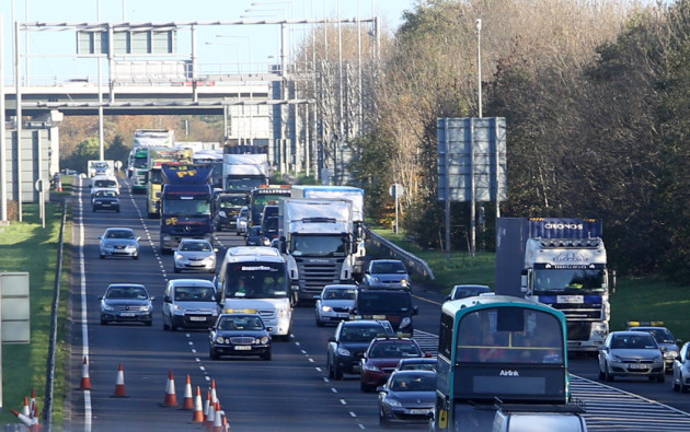 20/11/2015. Port Tunnel Closed. Pictured traffic b