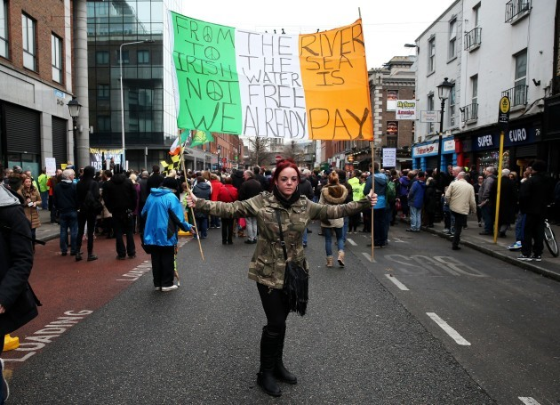 Water charge protest - Dublin