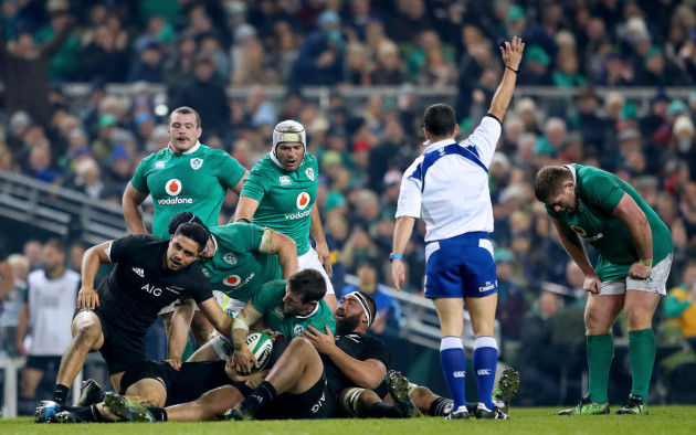 Jaco Peyper awards Ireland a penalty
