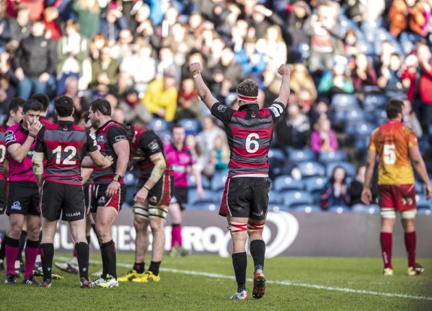 Jamie Ritchie celebrates at full time