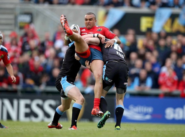 Simon Zebo tackled by Tommy Seymour