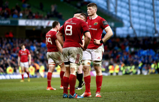 CJ Stander consoled by Jack O'Donoghue at the final whistle