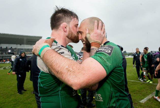 Aly Muldowney and John Muldoon celebrate