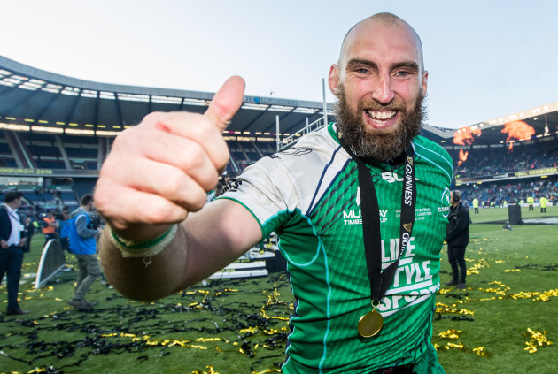 John Muldoon celebrates