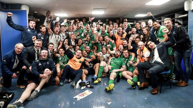 The Connacht team celebrate