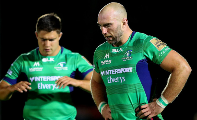 Dave Heffernan and John Muldoon dejected after the game