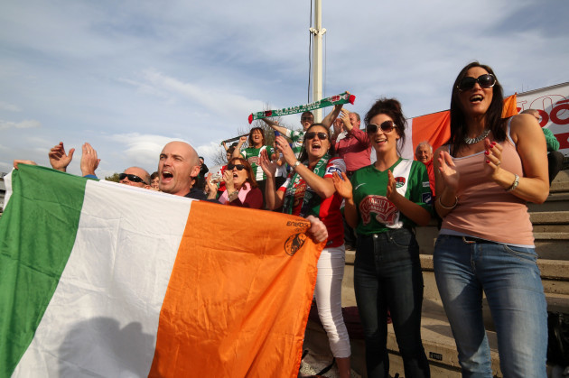Cork fans at the game