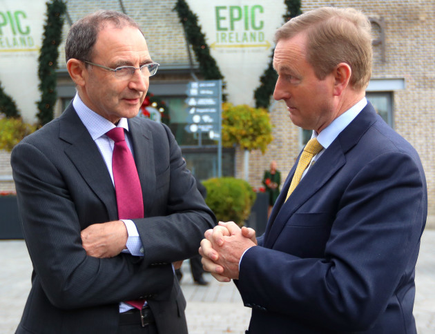 Martin O'Neill and Enda Kenny