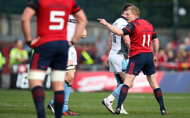 Keith Earls is sent off