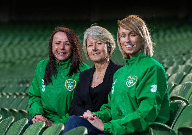 Stephanie Roche, Sue Ronan and Aine O'Gorman