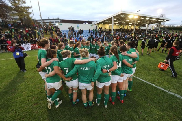 The Ireland team after the game