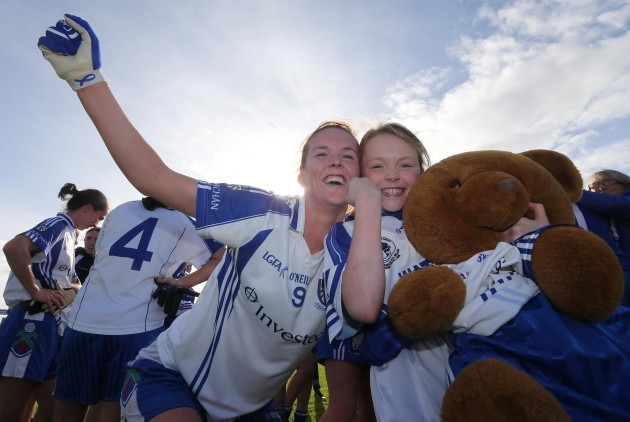 Amanda Casey with her daughter Emma Finnegan celebrates