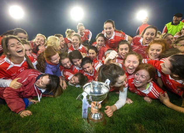 Donaghmoyne celebrate with the trophy