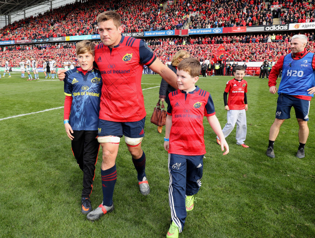 CJ Stander with Tony and Dan Foley