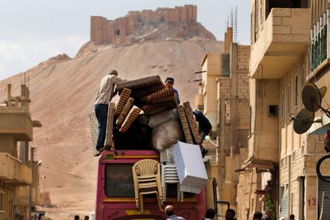 Mideast Syria Back to Palmyra