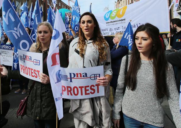 Pay restoration protest