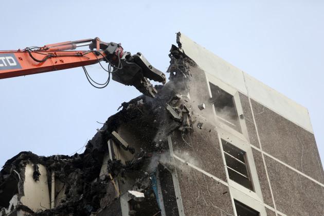 23/9/2015. Ballymun Towers Being Demolished