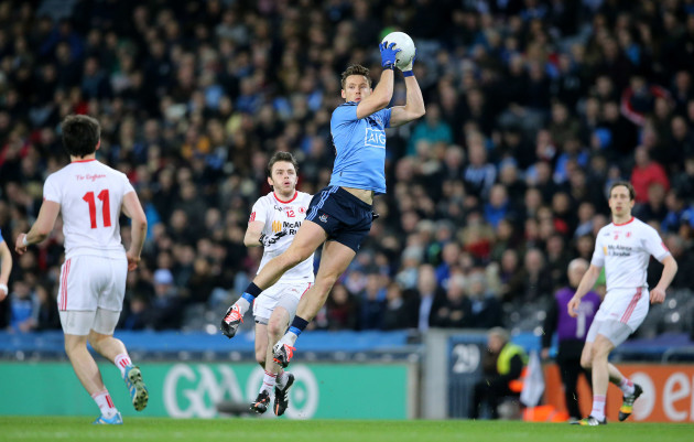 Paul Flynn catches a high ball